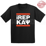 Kappa Alpha Psi iREP T-Shirt, Black - EMBROIDERED with Lifetime Guarantee
