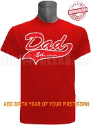 Embroidered Kappa Alpha Psi Dad Est. Tail Tee - EMBROIDERED with Lifetime Quality Guarantee