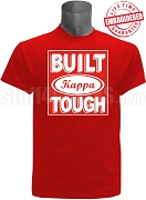 Built Tough Kappa Alpha Psi T-Shirt, RED - EMBROIDERED with Lifetime Guarantee