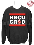 Kappa Alpha Psi HBCU Grad Crewneck Sweatshirt, Black - EMBROIDERED with Lifetime Guarantee