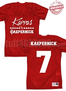 Kappas for Kaepernick Football Jersey, Red - EMBROIDERED with Lifetime Guarantee, BACK INCLUDED