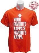 Your Favorite Kappa's Favorite Kappa T-Shirt, Red - EMBROIDERED with Lifetime Guarantee