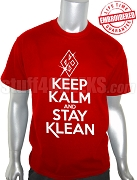 Kappa Alpha Psi Keep Kalm T-Shirt, Red - EMBROIDERED with Lifetime Guarantee