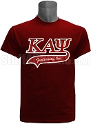 Kappa Alpha Psi Greek Letter Tail Patch T-Shirt, Crimson (NS)