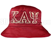 Kappa Alpha Psi Greek Letters Floppy Bucket Hat with Founding Year, Crimson (NS)
