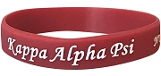 Kappa Alpha Psi Silicon Wristband with Organization Name, Crimson