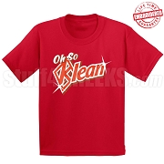 Oh So Klean T-Shirt, Red - EMBROIDERED with Lifetime Guarantee