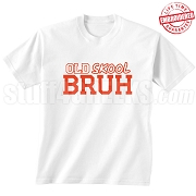 Old Skool T-Shirt (WHT-RED) - EMBROIDERED with Lifetime Guarantee