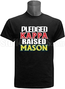 Kappa Alpha Psi Raised Mason Screen Printed T-Shirt, Black