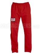 Kappa Alpha Psi Run DMC Screen Printed Sweatpants, Red (AB)