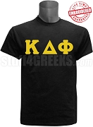Kappa Delta Phi Greek Letter T-Shirt, Black - EMBROIDERED with Lifetime Guarantee