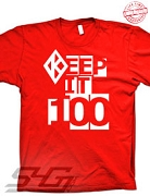 Kappa Keep It 100 T-Shirt, Red - EMBROIDERED with Lifetime Guarantee