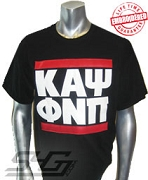 Kappa RUN DMC T-shirt, Black - EMBROIDERED with Lifetime Guarantee