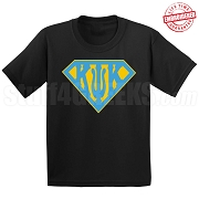 Kappa Psi Kappa T-Shirt with Greek Letters Inside Superman Shield, Black - EMBROIDERED with Lifetime Guarantee