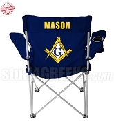 Mason Crest Lawn Chair with Organization Name, Navy Blue - EMBROIDERED WITH LIFETIME GUARANTEE