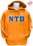 Nu Tau Beta Greek Letter Pullover Hoodie Sweatshirt, Orange - EMBROIDERED with Lifetime Guarantee