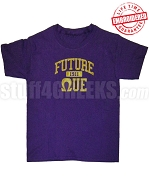 Future Omega Psi Phi T-shirt, Purple - EMBROIDERED with Lifetime Guarantee