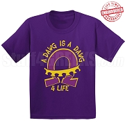 Dawg 4 Life T-Shirt, Purple - EMBROIDERED with Lifetime Guarantee