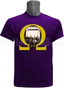 Omega Psi Phi Birth of Omega T-Shirt, Purple