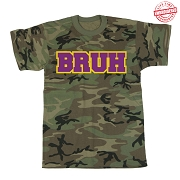 BRUH T-Shirt, Camo - EMBROIDERED with Lifetime Guarantee