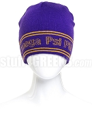Omega Psi Phi Reversible Beanie Hat with Organization Name (SAV)