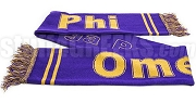 Omega Psi Phi Scarf with Organization Name, Purple