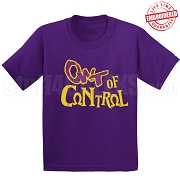 OWT of Control T-Shirt, Purple - EMBROIDERED with Lifetime Guarantee