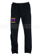 Omega Psi Phi Run DMC Screen Printed Sweatpants, Black (AB)