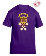 Omega Psi Phi School Daze T-Shirt, Black - EMBROIDERED with Lifetime Guarantee