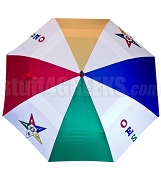 Order of the Eastern Star Auto Open Golf Umbrella with Letters and Fatal Star (NS)