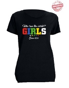 Order of the Eastern Star Girls Run The World T-Shirt, Gold - EMBROIDERED with Lifetime Guarantee
