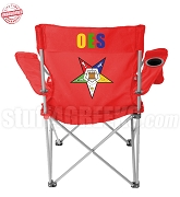 Order of the Eastern Star Crest Lawn Chair with Organization Name, Red - EMBROIDERED WITH LIFETIME GUARANTEE