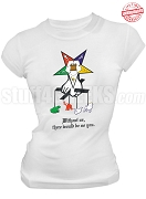 Order of the Eastern Star Mother of All T-Shirt, White - EMBROIDERED with Lifetime Guarantee