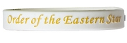 Order of the Eastern Star Silicon Wristband with Organization Name, White