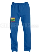 Order of the Eastern Star Run DMC Screen Printed Sweatpants, Royal Blue (AB)