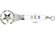 Order of the Eastern Star Letter Torch Light Key Chain