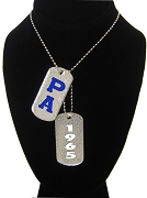 Pershing Angels Double Dog Tags - Double with Founding Year