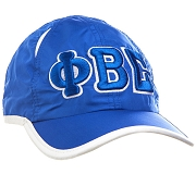 Phi Beta Sigma Greek Letter Featherlight Golf Cap, Royal Blue (SAV)