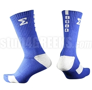 Phi Beta Sigma Calf Sock with Greek Letters and Founding Year, Royal Blue/White (NS)