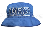 Phi Beta Sigma Greek Letters Floppy Bucket Hat with Founding Year, Royal Blue (NS)