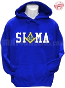 Phi Beta Sigma/Mason Square and Compass Sweatshirt, Royal Blue - EMBROIDERED with Lifetime Guarantee