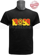 Phi Mu Alpha T-Shirt with Crest and Founding Year, Black - EMBROIDERED with Lifetime Guarantee