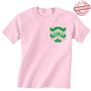 AKA Chevron Faux Pocket T-shirt - EMBROIDERED with Lifetime Guarantee