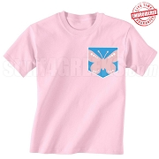 GFD Butterfly Faux Pocket  T-Shirt - EMBROIDERED with Lifetime Guarantee