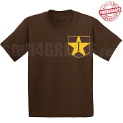 Iota Star Faux Pocket T-shirt - EMBROIDERED with Lifetime Guarantee