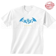 Kappa Psi Kappa Fratman T-Shirt with Letters, White - EMBROIDERED with Lifetime Guarantee