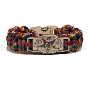 Order of the Eastern Star Braided Sports Bracelet,Multi-Color