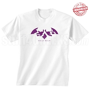 Sigma Lambda Beta Fratman T-Shirt with Letters, White - EMBROIDERED with Lifetime Guarantee