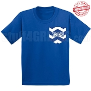 Zeta Phi Beta Chevron Faux Pocket T-shirt - EMBROIDERED with Lifetime Guarantee