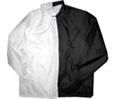 Clearance: White/Black Two-Tone Coaches Jacket, Size 5XL, Blank